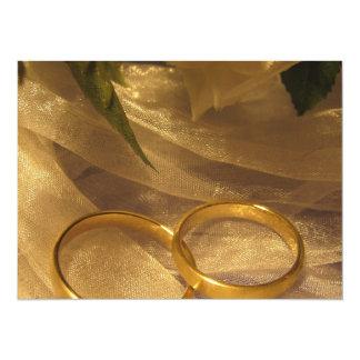 Golden Wedding Bands 14 Cm X 19 Cm Invitation Card