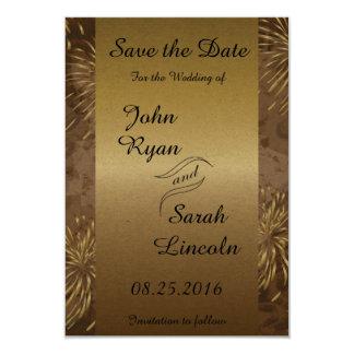 Golden Wedding Fireworks Card