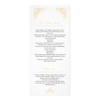 Golden Wedding Program Rack Card
