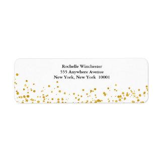 Golden wedding return address label
