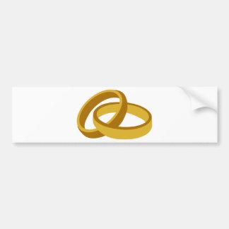 Golden Wedding rings Bumper Stickers