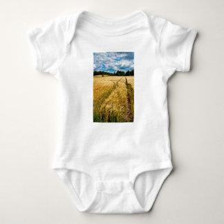 Golden wheat field in Brandenburg Baby Bodysuit