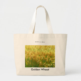 Golden Wheat Large Tote Bag