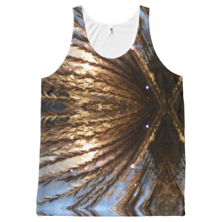 Golden Wheat Light Rays and Blue Sky All-Over Print Singlet