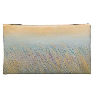 Golden Wheat Sueded Medium Cosmetic Bag