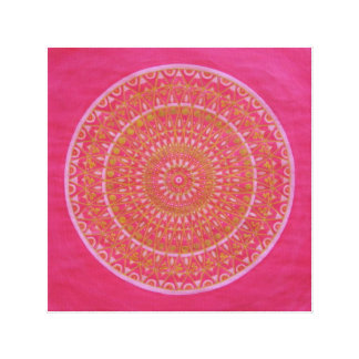 Golden wheel Mandala Canvas Print