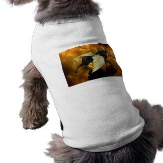 Golden Winged Pegasus Pet Shirt