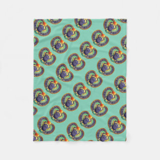 Golden Winged Scarab Fleece Blanket