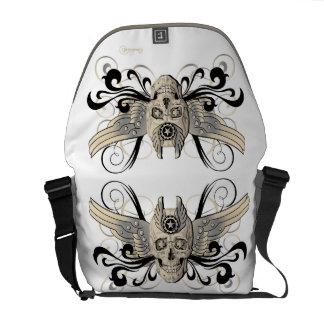 Golden Winged Skull #1b Messenger Bags