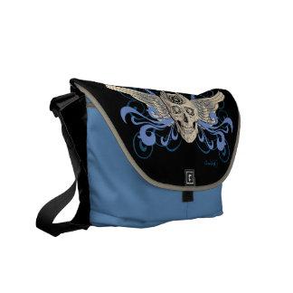 Golden Winged Skull #2b Commuter Bag