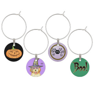 Golden Witch Wine Charm