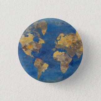 Golden World 3 Cm Round Badge