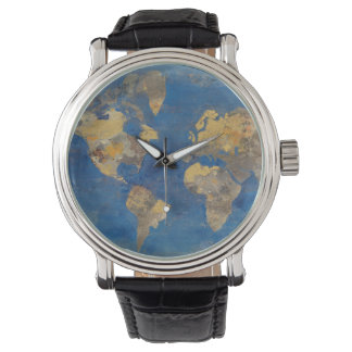 Golden World Wrist Watch