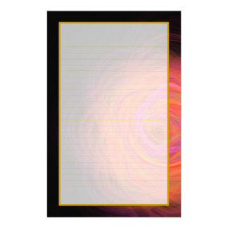 Golden Wormhole Fine Lined Stationery