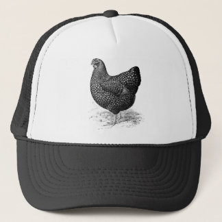 golden wyandotte hen trucker hat
