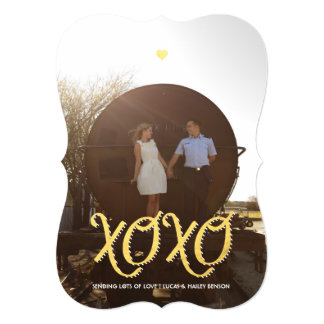Golden XOXO | Valentine's Day Photo Card