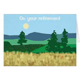 Golden years - retirement card