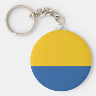 Golden Yellow and Royal Blue Key Ring