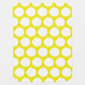 Golden Yellow Asian Moods Ikat Dots Baby Blanket