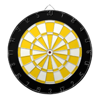 Golden Yellow Black And White Dartboards