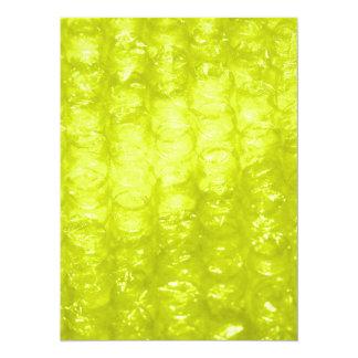 Golden Yellow Bubble Wrap Effect 14 Cm X 19 Cm Invitation Card