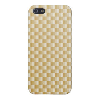 Golden Yellow Carbon Fiber Patterned iPhone 5/5S Case