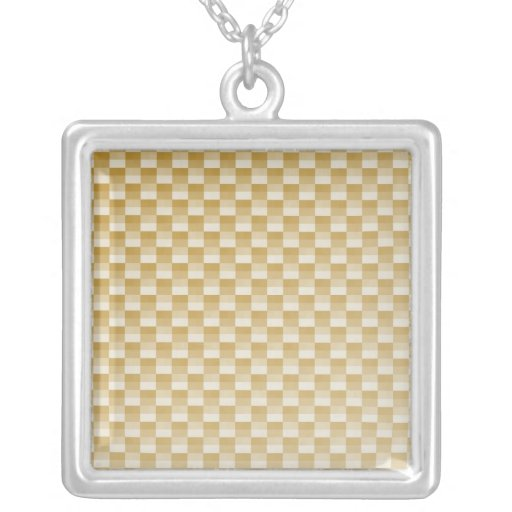 Golden Yellow Carbon Fiber Patterned Jewelry
