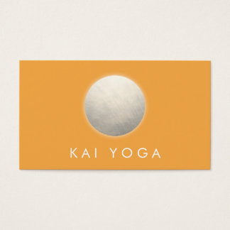 Golden Yellow Circle Glow Holistic Wellness Business Card