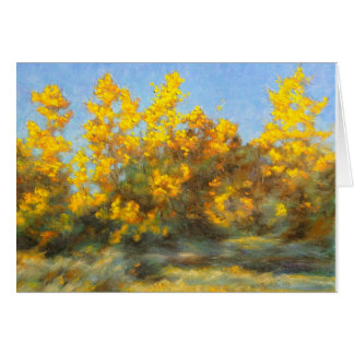 Golden Yellow Fall Trees Greeting Cards