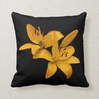 Golden Yellow Lilies Cushion
