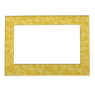Golden Yellow Mosaic Geometric Abstract Pattern Magnetic Photo Frames