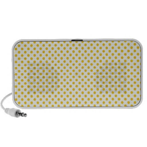 Golden Yellow Polka Dots Mp3 Speakers