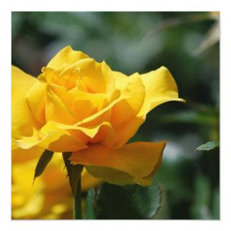 Golden Yellow Rose Bud Invitations