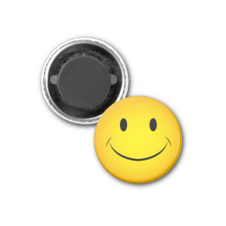Golden Yellow Smiley Face Magnet