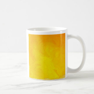Golden Yellow - The World With Minimal Design Basic White Mug