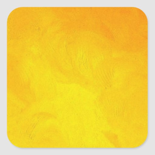 Golden Yellow - The World With Minimal Design Square Sticker