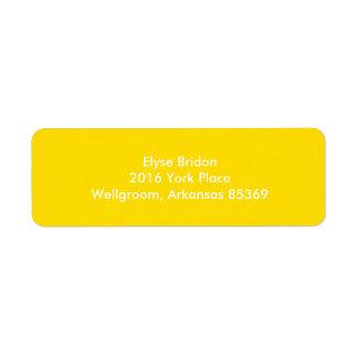 Golden Yellow Top Color Coordinating Return Address Label