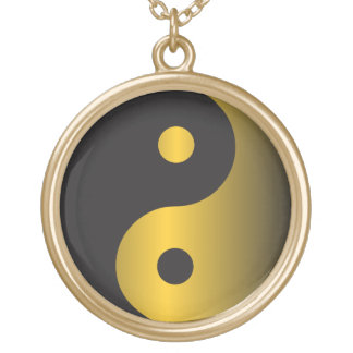 Golden Yin-Yang Gold Plated Necklace