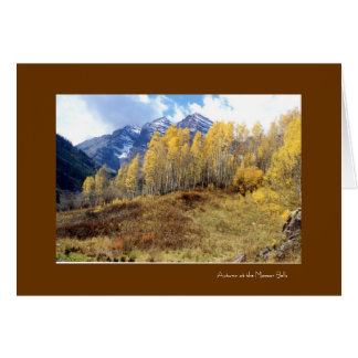 goldenbells4, Autumn at the Maroon Bells Card