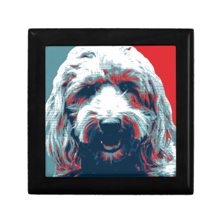 GOLDENDOODLE by Hope Dogs Small Square Gift Box