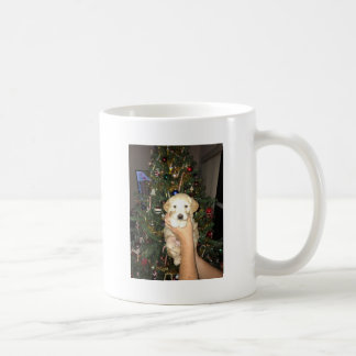 GoldenDoodle Puppy With Christmas Tree Coffee Mug