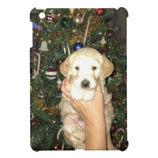 GoldenDoodle Puppy With Christmas Tree iPad Mini Cover