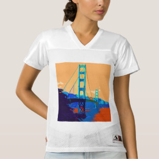 GoldenGateBridge_20170101_by_JAMFoto Women's Football Jersey