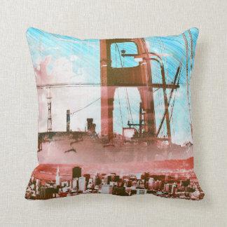 GoldengateBridge SanFrancisco Iconic Panel of Life Throw Pillow