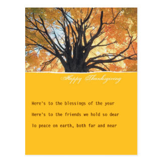 Goldenrod Thanksgiving Invitation Postcard