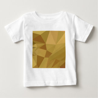 Goldenrod Yellow Abstract Low Polygon Background Baby T-Shirt