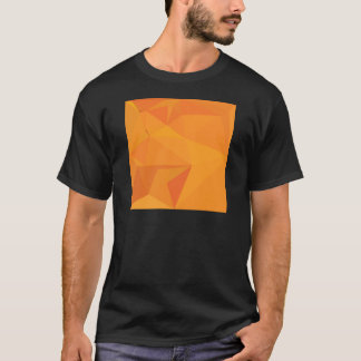 Goldenrod Yellow Abstract Low Polygon Background T-Shirt