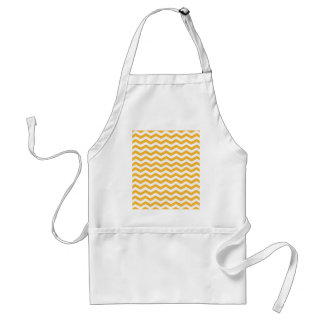 Goldenrod Yellow And White Zigzag Chevron Pattern Aprons