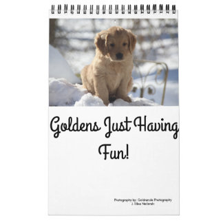 Goldens Just Having Fun Calendars