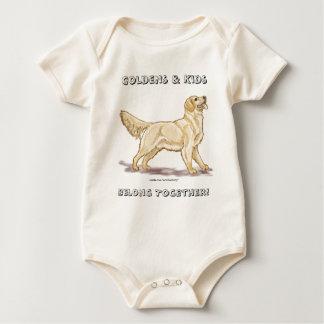 Goldens & Kids Belong Together! Baby Bodysuit